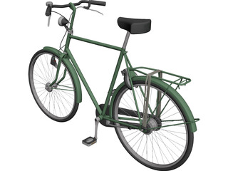 City Bicycle CAD 3D Model