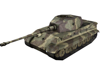 Tiger II German Tank 3D Model