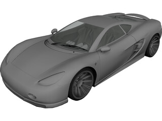 Ascari KZ1 Spyder 3D Model 3D Preview