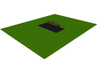 Football Stadium with Pub 3D Model