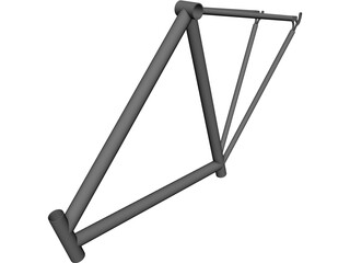 Race Bike Frame CAD 3D Model