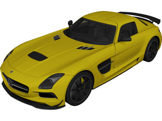 Mercedes-Benz SLS AMG Black Series (2014) 3D Model
