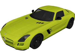 Mercedes-Benz SLS AMG Electric Drive (2014) 3D Model