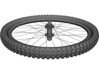 MTB 26 Inch Rear Wheel CAD 3D Model