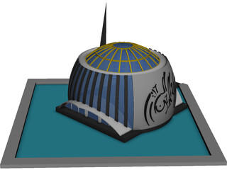 Pearl Mosque Masjid 3D Model