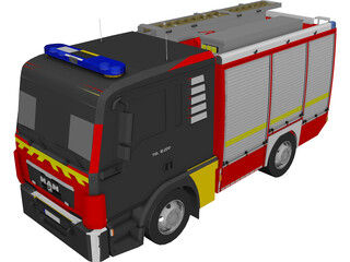 MAN TGL TLF4000 Germany Firetruck 3D Model
