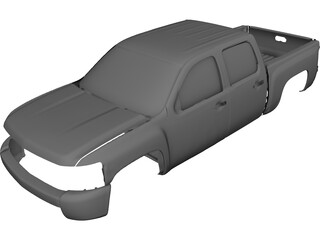 Chevrolet Silverado Body CAD 3D Model