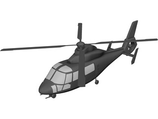 Eurocopter AS-365 Dauphin CAD 3D Model
