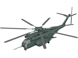 Sikorsky MH-53E Sea Dragon CAD 3D Model
