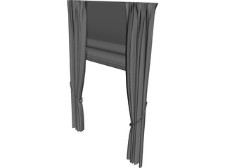 Curtain 3D Model 3D Preview