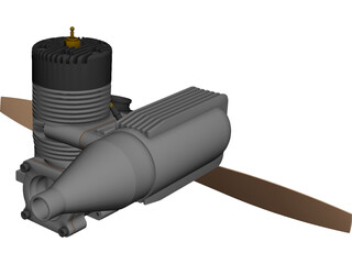 RC Model Engine CAD 3D Model