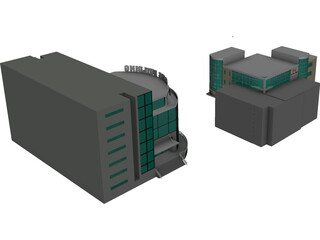 Helios Building Global CyberSoft 3D Model