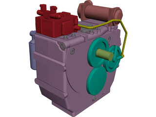 ZF 2000 Engine CAD 3D Model