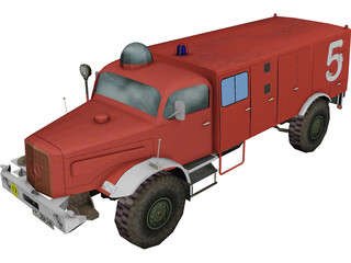 Mercedes-Benz Fire Truck 3D Model