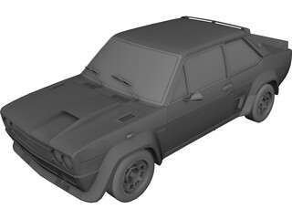 Fiat 131 Abarth 3D Model 3D Preview