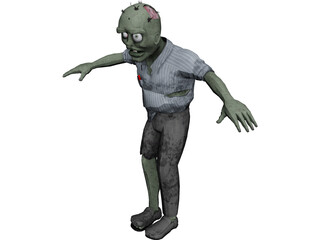 Zombie Rig 3D Model