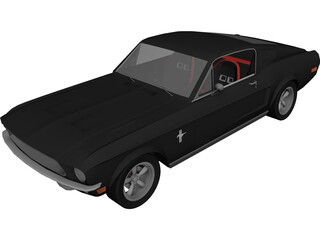 Ford Mustang Fastback Evolution 3D Model