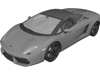 Lamborghini Gallardo LP560-4 Spyder (2009) 3D Model