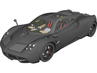 Pagani Huayra (2012) 3D Model 3D Preview