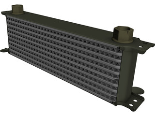 Oil Cooler CAD 3D Model