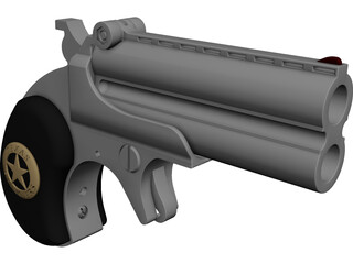 Derringer Texas Ranger CAD 3D Model