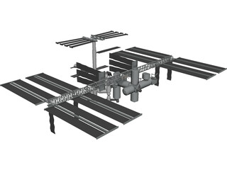 International Space Station (ISS) CAD 3D Model