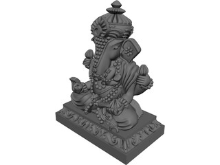Thai Buddha China Statue 3D Model 3D Preview