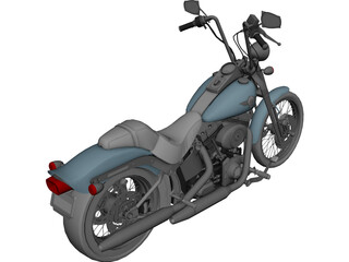 Harley-Davidson FXSTS Springer Softail 3D Model