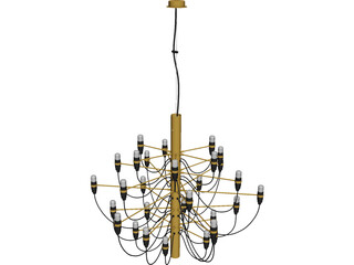 Flos 2097 Chandelier 3D Model 3D Preview