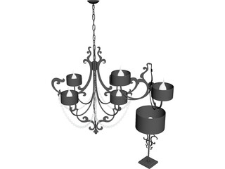 Cantori Lago Lamps 3D Model