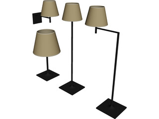 Flos Ktribe Soft Lamps 3D Model