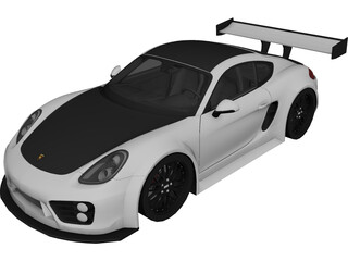 Porsche Cayman S (Tuning) 3D Model