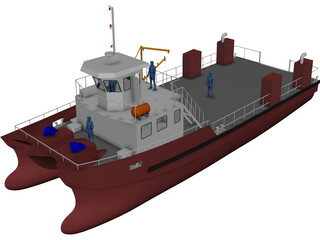 Tug Boat 3D Model 3D Preview