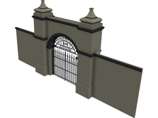 Stonehearst Asylum Gate 3D Model