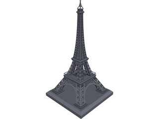 Eiffel Tower CAD 3D Model