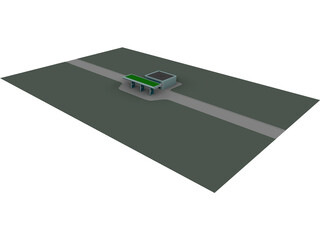 Gas Station 3D Model 3D Preview