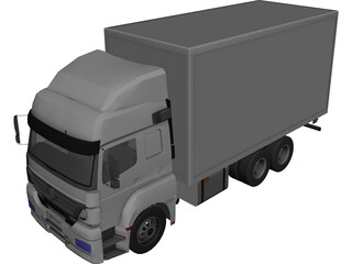 Mercedes-Benz Axor 3-Axle Cab 3D Model