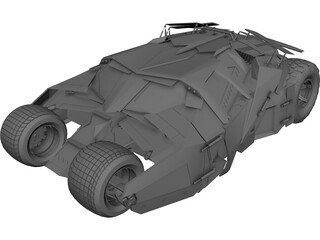 Batmobile Tumbler Car  3D Model