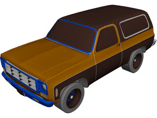 Chevrolet K-5 Blazer (1978) 3D Model 3D Preview