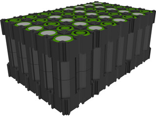Lithium Battery 18650 type CAD 3D Model