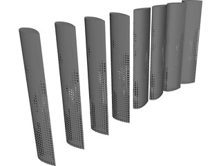 Illuminated Louvers 3D Model