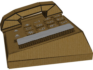 Cardboard Phone 3D Model 3D Preview