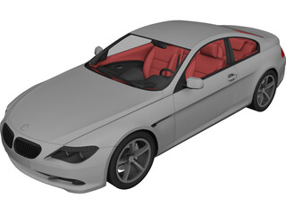 BMW 6-Series Coupe 3D Model 3D Preview