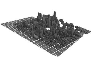 Philadelphia Downtown 3D Model