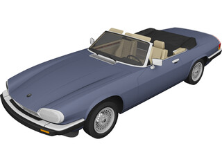 Jaguar XJS Convertible (1975) 3D Model