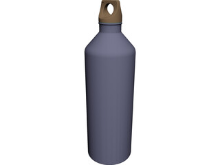 Aluminum Water Bottle CAD 3D Model