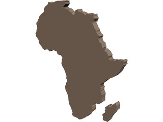 Africa Map 3D Model 3D Preview