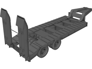 Kraz Trailer 3D Model 3D Preview