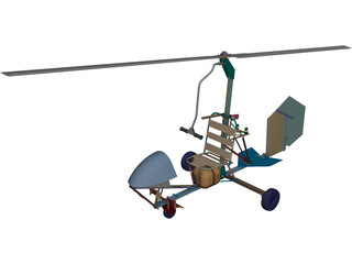 Bensen B-6 Gyrocopter CAD 3D Model