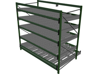 Dinamic Shelves for Picking Lines 3D Model